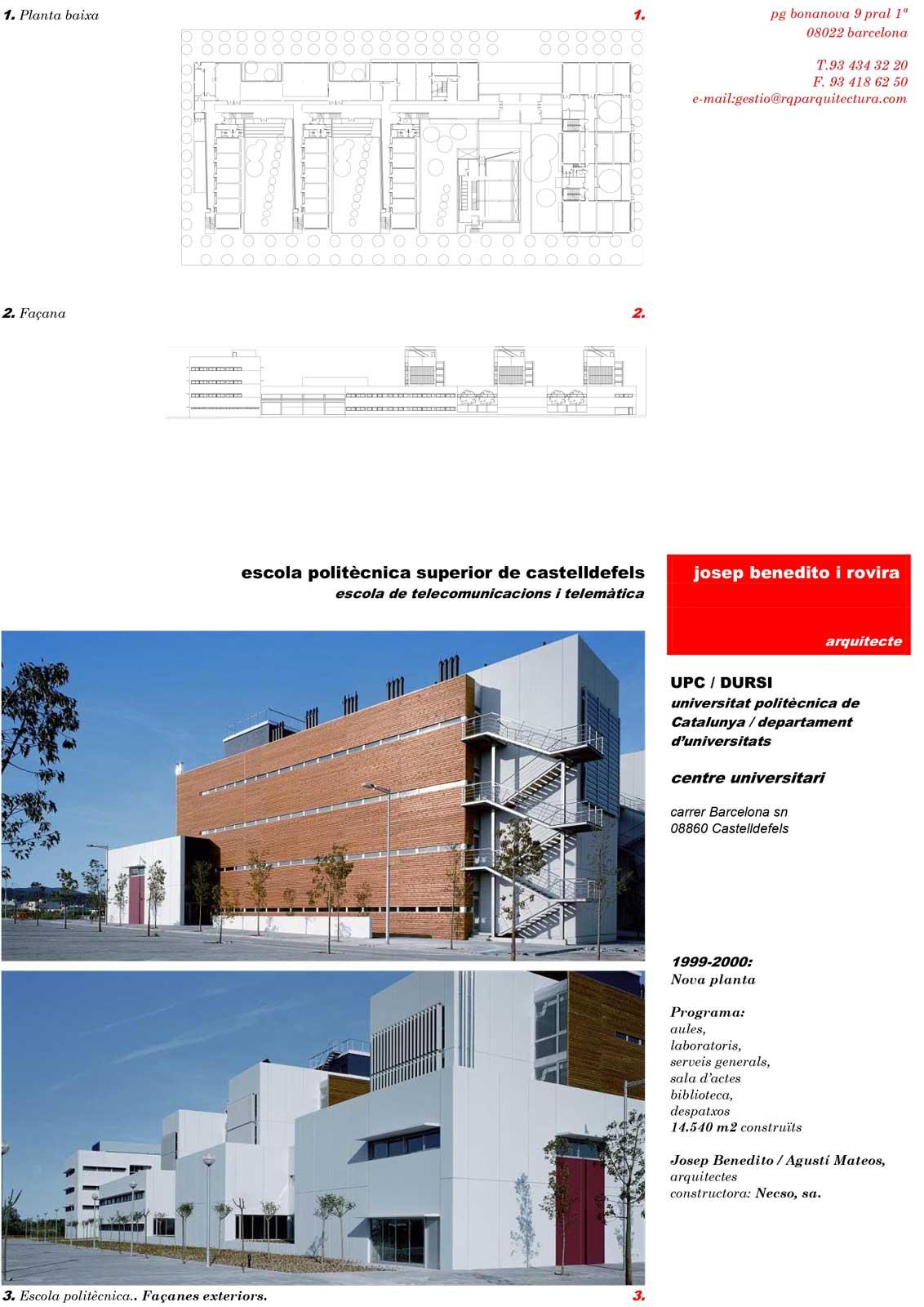 Escola polit cnica superior rqp arquitectura Arquitectura politecnica